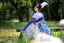 Rococo blue dress / 18th century dress