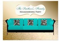 Housewarming Invitations / classy chic housewarming invitations, new house party invitations