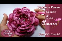 VIDEO DE FLOR EM CROCHE