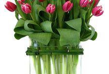 BLOEMSTUK met tulpen