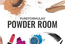PureFormulas' Powder Room / Welcome to PureFormulas' Powder Room, your comprehensive makeup stop for everything beauty related. Enjoy useful products, cleansing skincare beauty tips, and practical makeup application ideas and video tutorials. We're here to help you every step of the way toward a more glowing you! From natural to glam, here you'll find the products and confidence to reveal your face to the world!