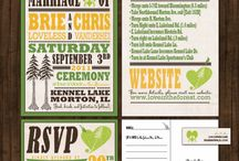 Outdoor green and yellow wedding / Outdoor green and yellow wedding invitations vintage rustic poster hatch print