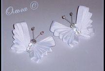 Mariposas de raso