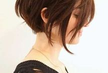 Girl's Hair ideas / I love short, messy hair. I love the fact that my hairdresser loves cutting my hair short and messy!