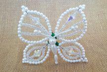 Motýli z korálků