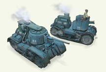 Sci-Fi tanks and trucks