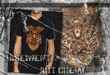 Tshirt / ''Art is not just a way of life is to express your freedom'' Basement Art Crew