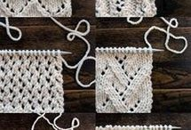 Knitted stitches