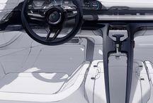 car sketch -interior-