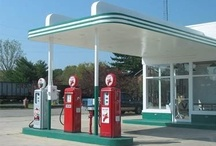 old stops on the way / gas stations and old hotels motels  / by 827 Photography