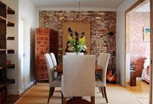 Dining Room Reclaimed Bricks