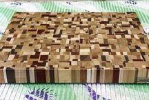"""MTMWOOD"" end grain cutting boards"