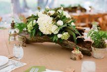 Dekoracje weselne marsala