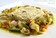 cuscus con pollo y verduras
