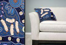 Aboriginal design Cushion Covers / Aboriginal design Cushion Covers