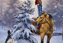 A Cowboy Christmas / by F.M. Light and Sons
