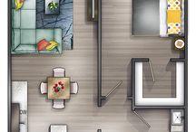 Plantas Apartamento Pequeno