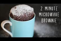 Microwave mug brownies