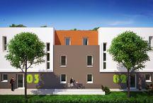 Résidence Arty / #Programme #immobilier de 21 #logements situé à #Toulouse quartier #Borderouge Parc de la Maourine