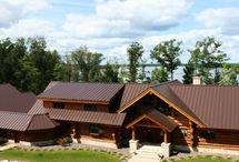 Mansard Brown Metal Roof