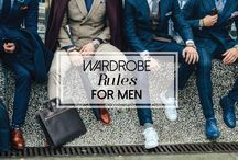 Wardrobe Rules for Men / What first impression would you like to give people about yourself? Check out our three wardrobe rules for men that can make all the difference both in the work place and in your social life!   http://styledoctors.com/wardrobe-rules-for-men/