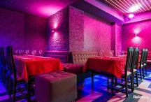 Караоке-клуб «Метелица» / Новый караоке-клуб в Минске. Дизайн проект,   разработан нашей студией. Стены выполнены декоративной штукатуркой, в декоре присутствуют две  росписи акриловыми красками.