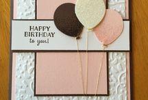 Carte anniversaire et fête