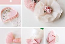 diy chiffon embellished flowers for hair