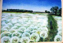 Landscape pastels