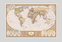 Maps / Maps can make for great wall art. Here is a collection of beautiful maps to accentuate any living space. Purchase Online at Pop Motif.