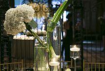 White Centerpieces / #white #wedding #tallcenterpieces