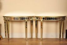 Mirrored Tables / http://canonburyantiques.com/s/mirrored-furniture/mirrored-tables/1/  Large range of mirrored tables including dining and console tables. Much of this mirrored furniture is in the art deco style. Many of these mirrored tables are on view in our North London showroom