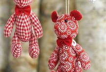 Christmas DIY craft / Fabric and yarn