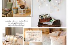 NATAL VEM VINDO! / Decorações diversas para o Natal, das minimalistas até as mais criativas. Todas com um toque de modernidade e personalidade!