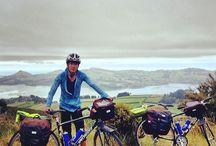 Don´t follow this bike / Voy dar la vuelta a Nueva Zelanda en bici con una tabla de surf y haciendo un documental. 16.000 kilómetros en 10 meses.   Mi viaje comienza el 26 de diciembre en Dunedin. La idea es recorrer toda la costa y llegar a Dunedin dentro de 10 meses. :)  Aquí puedes ver por dónde iré cada mes