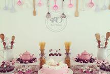 decoração  para chá  da Aline