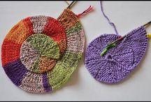 круглое вязаное полотно(спицы)