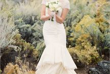 Bridal styled shoot in the desert
