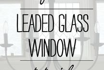 DIY Leaded Glass