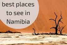 Namibia travel / Travel inspiration for a road trip to Nambia in Southern Africa