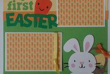 Scrapbook Layouts: Easter