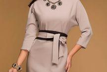 Платье с цельнокроенным рукавом