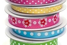 Ribbons, bows, twine, washi tape