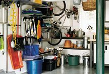 Organization Tips For Your Garage and Home / Organizing your garage always sounds like an impossible and difficult task, but it doesn't have to be! Here are a few of our favorite DIY organization tips to turn your garage into a beautifully organized storage space.