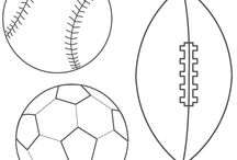 Baseball & Soccer coloring pictures