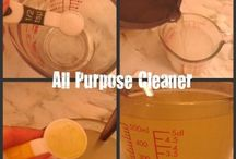 Household Products / Living green, being healthy and saving money by making my own household cleaning products.