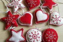 Vánoční ozdoby - filcové