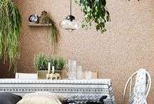 Cork - Inspiring interior designs using cork / Not only is cork a stylish material idea that adds warmth and texture to spaces, it's also ideal for absorbing noise in our increasingly large, open plan homes.