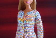 Roupinhas da Barbie de Crochê