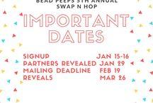 Bead Peeps Swap N Hop 2018 / Share your designs from the Bead Peeps Swap N Hop 2018